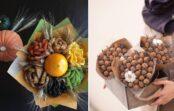 Kā pašu spēkiem izveidot skaistus riekstu un žāvētu augļu pušķus?