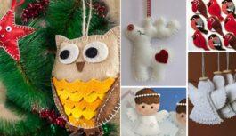 Filca mantiņas savām rokām – idejas Ziemassvētku eglīšu rotājumiem un dāvanām