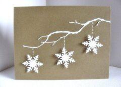 Idejas skaistām Ziemassvētku kartītēm, kuras varat uztaisīt savām rokām!