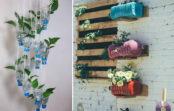 Plastmasas pudeles, glāzes un trauki – nevis atkritumi, bet unikāli interjera elementi